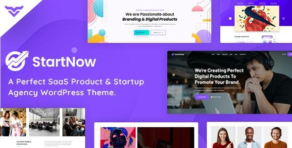 StartNow - Product & Agency WordPress Theme - Software Technology  10 Modern Startup Business WordPress Theme For Digital Entrepreneurs StartNow Preview Image