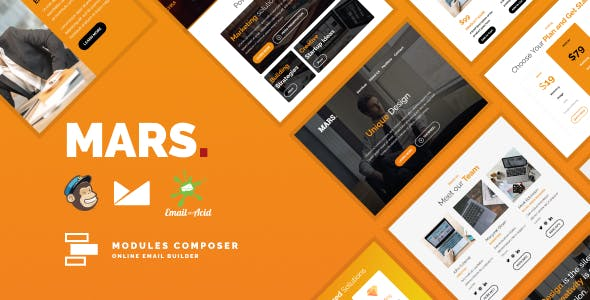 Mars - Responsive Email for Agencies, Startups & Creative Teams with Online Builder