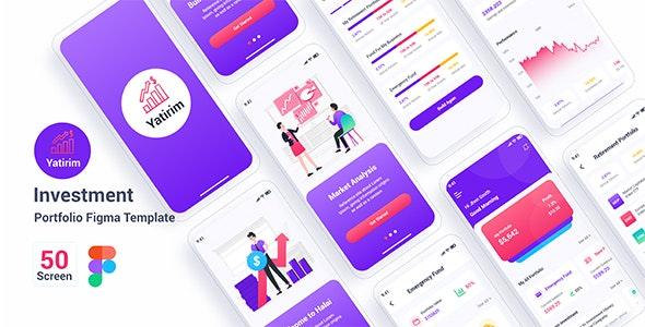 Yatirim – Investment Portfolio Figma Template - Figma UI Templates
