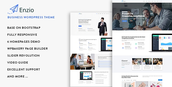 Enzio - Responsive Business WordPress Theme - Business Corporate