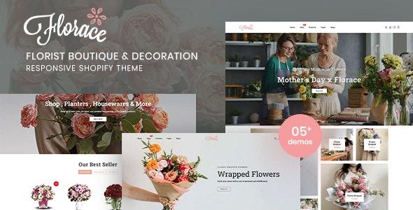 Florace - Florist Boutique & Decoration Store Shopify Theme - Shopify eCommerce