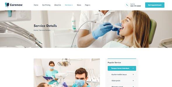 Carenow – Medical & Dentist Elementor Template Kit