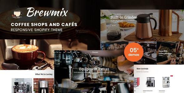 Brewmix - Coffee Shops and Cafés Responsive Shopify Theme - Shopify eCommerce
