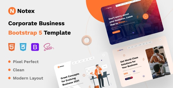Notex - Corporate Business Bootstrap 5 Template - Business Corporate