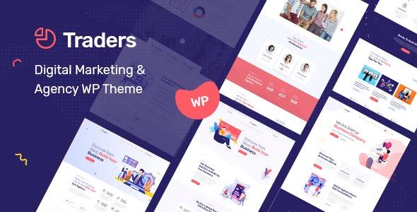Traders - Digital Marketing & Agency WordPress Theme - Business Corporate