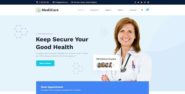MediiCare - Medical & Clinic Figma Template