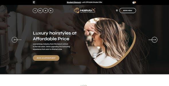 HairMax - Beauty and Hair Salon PSD Template