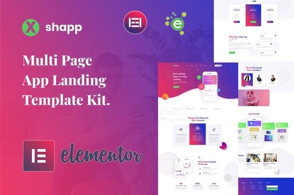 Xshapp - App Landing Elementor Template Kit - Technology & Apps Elementor