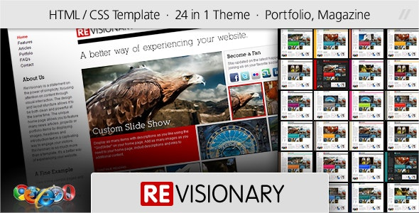 ReVisionary - HTML Portfolio and Magazine Site - Portfolio Creative