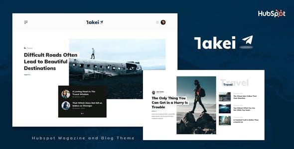 Takei - Blog and Magazine HubSpot Theme