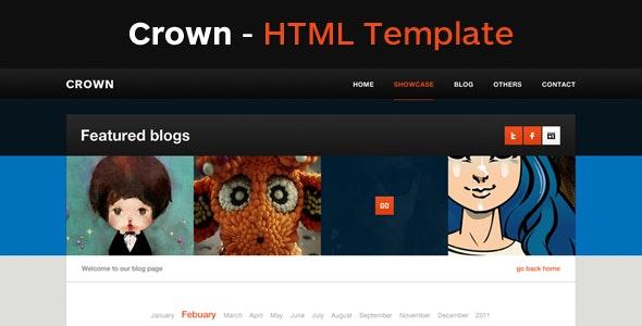 Crown - A Clean HTML Template - Creative Site Templates