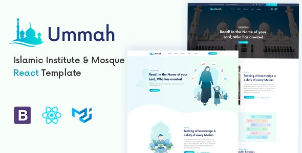 Ummah - Islamic Center React Template - Churches Nonprofit