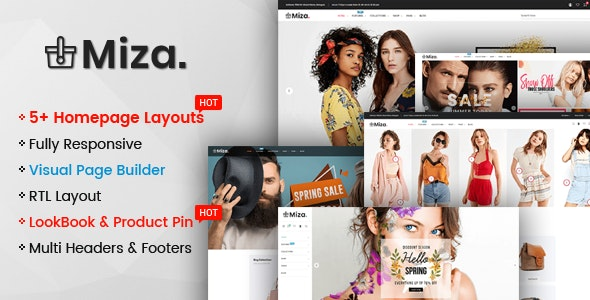 Miza - Multipurpose Clothing And Fashion Bootstrap 4 Shopify Theme With Sections - Shopify eCommerce