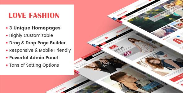 LoveFashion - Responsive Multipurpose Sections Drag & Drop Builder Shopify Theme