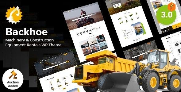 Backhoe - Construction Equipment Rentals WordPress Theme - Directory & Listings Corporate
