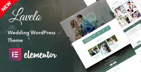 Lavelo - Wedding WordPress Theme - Wedding WordPress