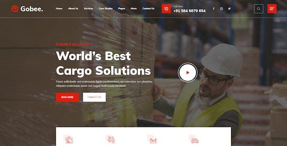 Gobee - Cargo & Logistics PSD Template