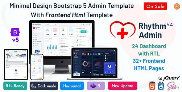 Rhythm - Medical Responsive Bootstrap 5 Admin Template Dashboard - Admin Templates Site Templates