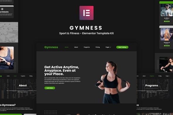 Gymness - Sport & Fitness Elementor Template Kit - Sport & Fitness Elementor