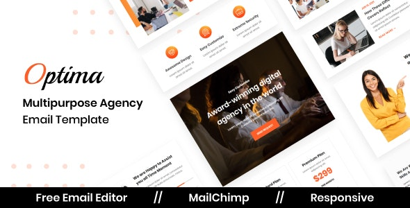 Optima Agency - Multipurpose Responsive Email Template - Newsletters Email Templates