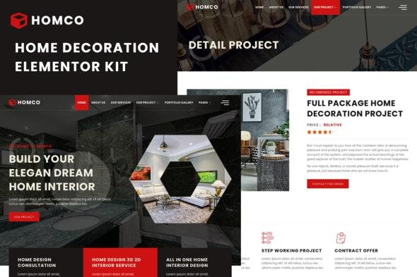 Homco - Home Interior Design Services Elementor Template Kit - Real Estate & Construction Elementor