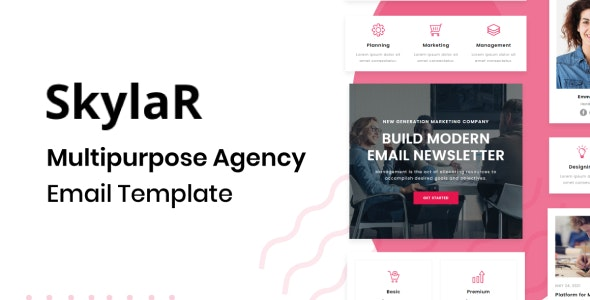 Skylar - Agency Multipurpose Responsive Brand Email Template - Newsletters Email Templates