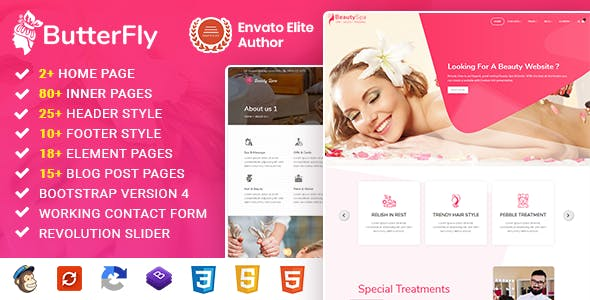 ButterFly : Spa, Beauty Salon & Massage Template