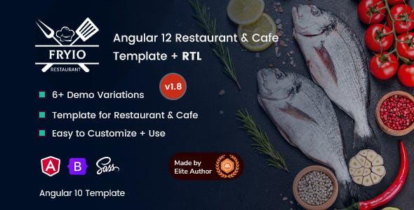 Fryio - Angular 12 Restaurant & Cafe Template