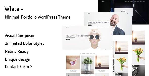 White – Minimal Portfolio WordPress Theme