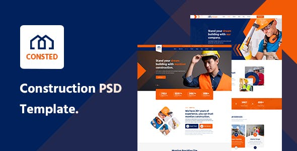 Consted– Construction PSD template