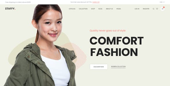 Staffy - The Multipurpose eCommerce PSD Templates