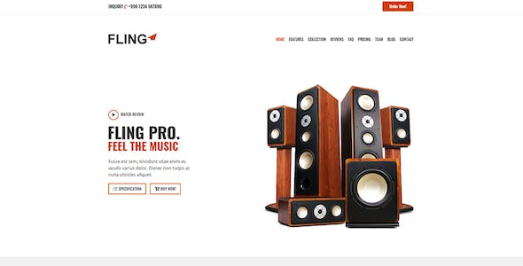 Fling - Product Landing Page Template
