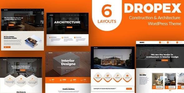 Dropex v1.0 – Architecture WordPress Theme