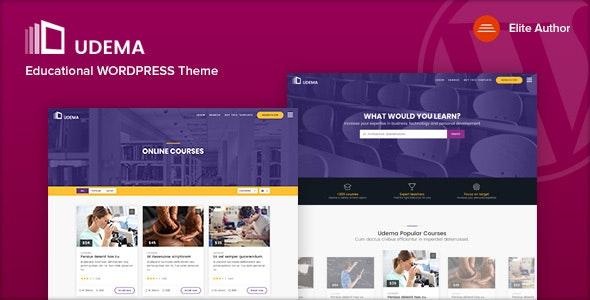 UDEMA - Modern Educational WordPress Theme - Education WordPress