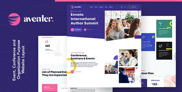 Aventer | Conferences & Events HTML Template
