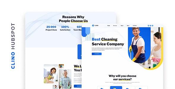 Clino - Cleaning Company HubSpot Theme - Creative HubSpot CMS Hub