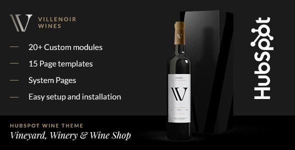 Villenoir - Wine Hubspot Theme - Retail HubSpot CMS Hub