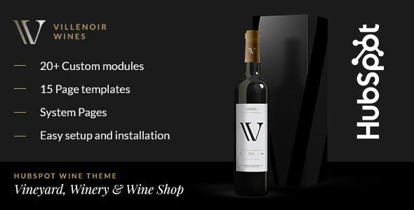 Villenoir - Wine Hubspot Theme