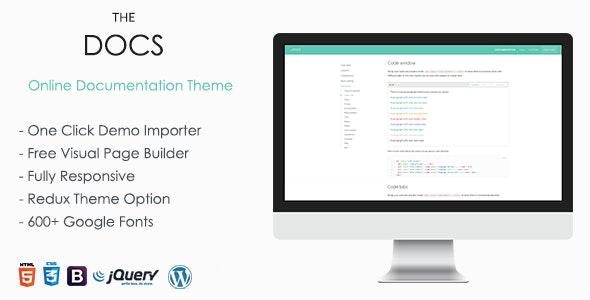 TheDocs - Online Documentation WordPress Theme by vergatheme | ThemeForest