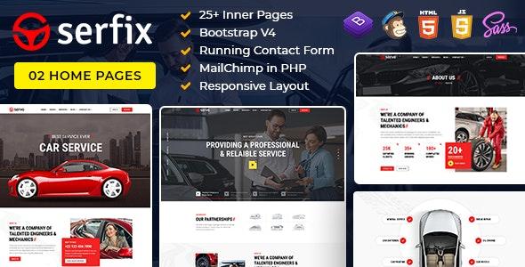 Serfix -  Bootstrap 4 HTML Template - Site Templates