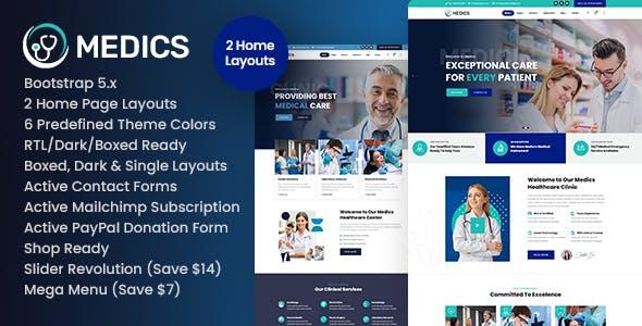 Medics - Healthcare HTML Template