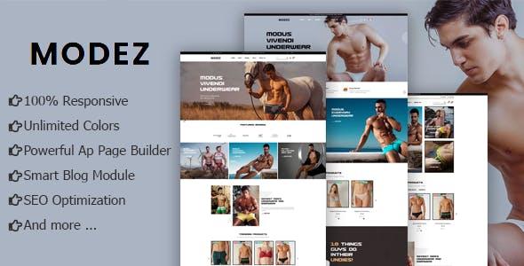Modez - Underwear Fashion eCommerce Prestashop Theme