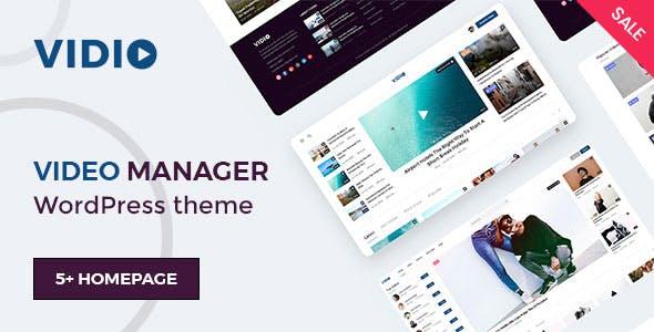 Vidio - Video Manager WordPress theme