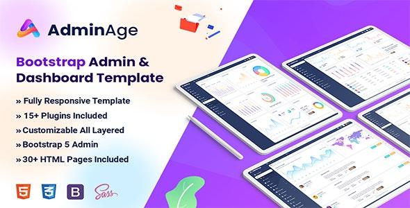 Adminage - Bootstrap Admin & dashboard Template - Admin Templates Site Templates