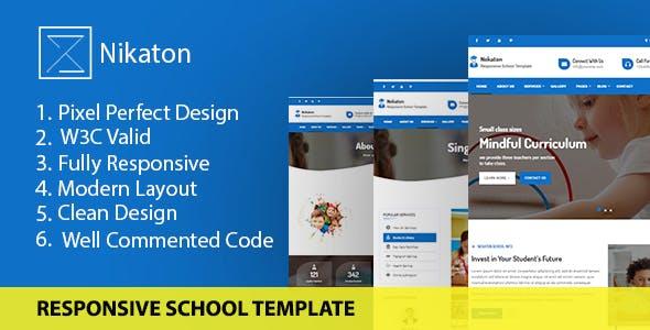 Nekaton - Responsive School & kindergarten Template