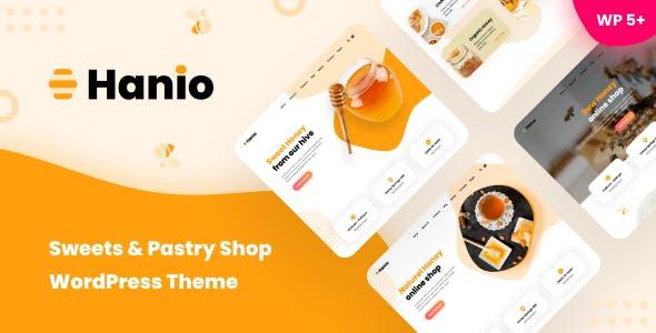 Hanio - Sweets & Pastry Shop WordPress Theme