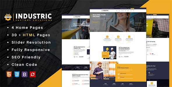 Industric - Industrial & Factory Solutions HTML Template