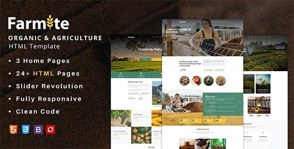 Farmite - Organic & Agriculture Food HTML Template