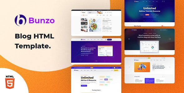 Bunzo - Blog Bootstrap 5 HTML Template - Creative Site Templates
