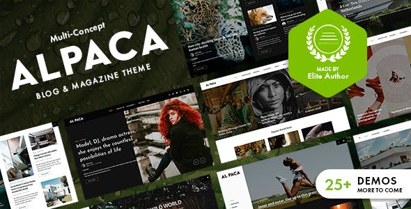 Alpaca - Blog & Magazine WordPress Theme